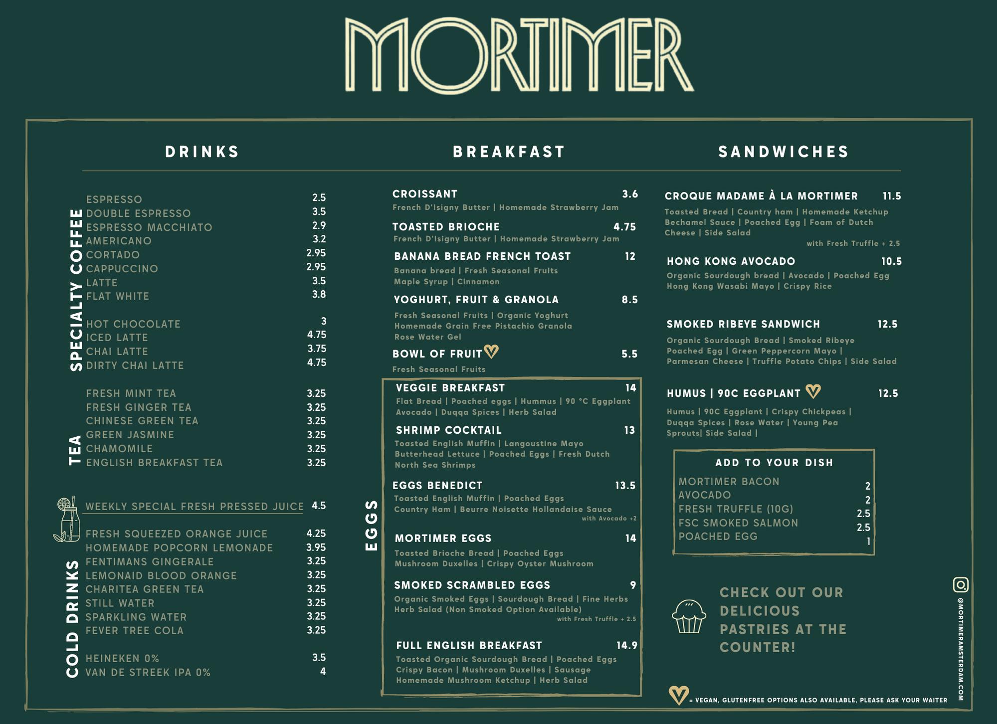 Menu Mortimer